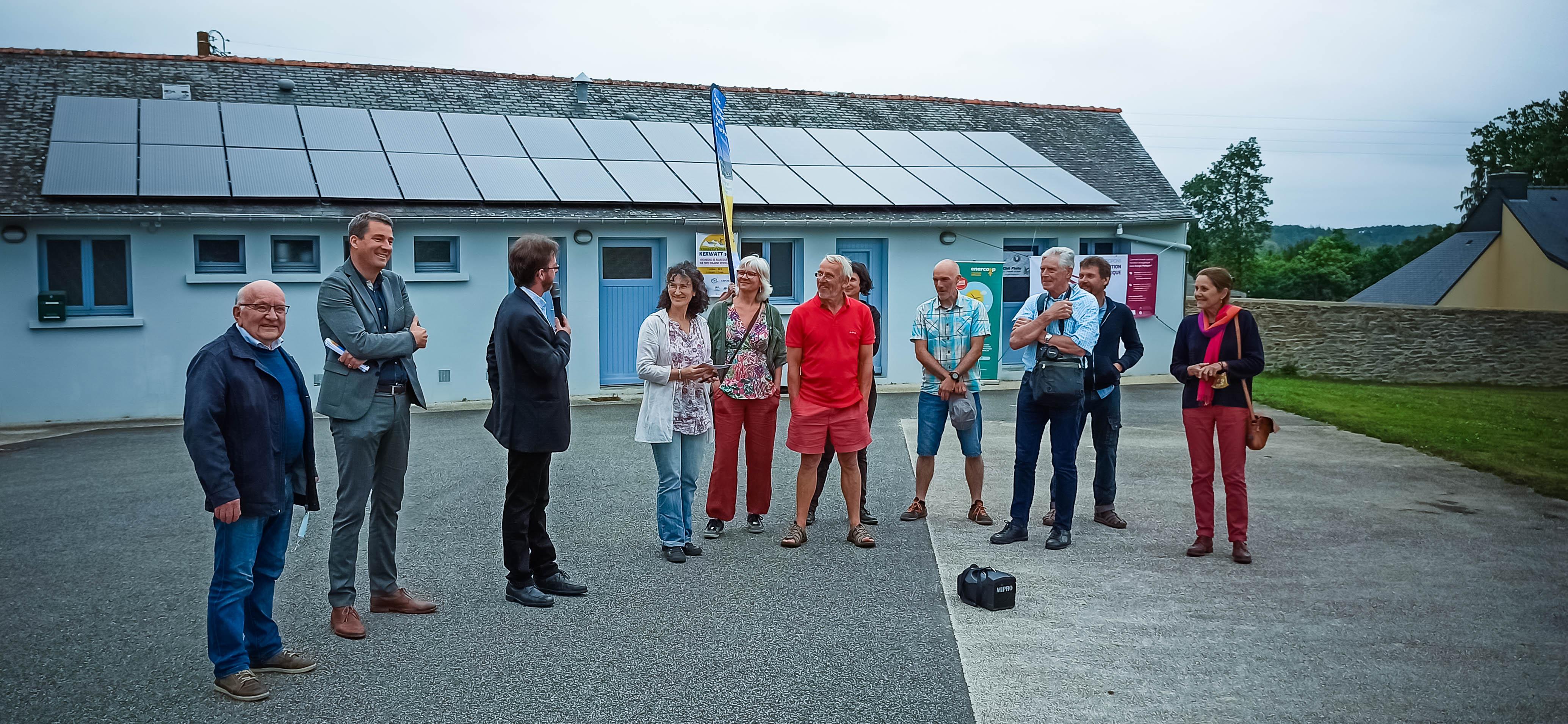 Inauguration des panneaux solaires